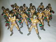 2001 Power Rangers Time Force Cyclobot Rare 15 Figure Lot Some W Shoulder Pads