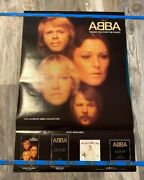 Rare Vintage Abba Thank You For The Music Promo Poster 36x24 Fb