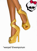 Monster High Doll Clothes Fab Gold Shoes Cleo Oasis Spa 13 Wishes