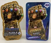 Marvel Avengers Infinity War Gauntlet Two 48-piece Jigsaw Puzzle Lot Metal Tins