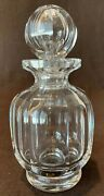 Baccarat Crystal Malmaison Perfume Bottle Decanter With Stopper 6 3/4 H French