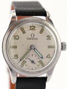 Nice And Rare Omega Military Wrist Watch From The 1940and039s
