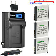 Kastar Battery Lcd Ac Charger For Sony Np-fe1 Npfe1 And Sony Cyber-shot Dsc-t7