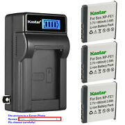 Kastar Battery Lcd Wall Charger For Sony Np-fe1 Npfe1 And Sony Cyber-shot Dsc-t7/b
