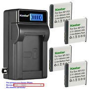 Kastar Battery Lcd Wall Charger For Sony Np-fe1 Npfe1 And Sony Cyber-shot Dsc-t7/s