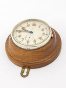 Rare Omega Table Desk Clock With 8 Dayand039 S Swedish Military 30and039s