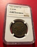 1901 Portugal Azores 10 Reis Xf40 Bn Ngc
