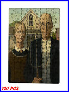 Grant Wood - American Gothic Art Paint - 120 Piece Jigsaw Puzzle