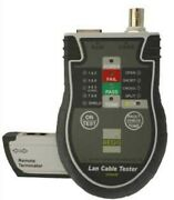 Aegis Lan Tester Agscz20350 Large Lcd For Network Telephone And Coaxial Cable