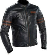 Richa Curtiss Jacket Black Brown Leather Motorcycle Jacket New