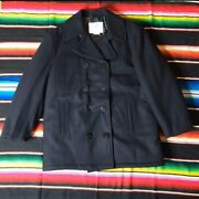 Vintage Aberdeem Navy Peacoat. Nautica Anchor Buttons