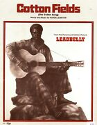 Leadbelly Cotton Fields Sheet Music-the Cotton Song-piano/v/guitar/chords-1962