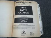 1986 Dodge Charger Hatchback Parts Catalog Manual 2.2 Shelby Turbo