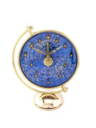 Fine Rare Jaeger Lecoultre Table Clock With 8-day Inline 50and039s Zodiac