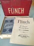 Vintage Flinch Card Game By Parker Brothers 1938 Made In Usa For 2 To 8 Players