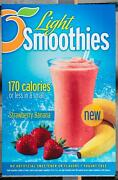 Dairy Queen Promotional Poster For Backlit Menu Sign Light Smoothies Dq2
