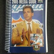 2005 Miami Dolphins Nfl Media Guide Yearbook Dan Marino Hof Induction Year Mint