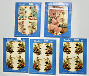 Meyercord Vintage Decals Lot Set Of 5 Theater Masks Teddy Bears