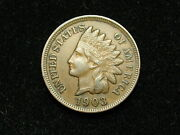 Spring Sale Au 1903 Indian Head Cent Penny W/ Full Liberty And Diamonds 46j