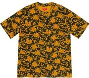 Supreme Floral Small Box Tee Black/gold Sz Xl Sold Out Shipped Free Same Day🚨