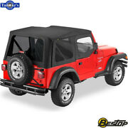 1997-2002 Jeep Wrangler Replace-a-top Fabric-only Soft Top - Black Denim