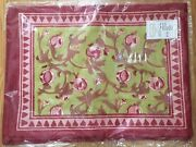 Couleur Nature Granada Red And Green Pomegranates French Table Linens Bruno Lamy