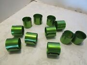 Vintage Green Lucite Acrylic 11 Napkin Rings Spiral Japan Fashions By Donna