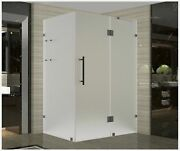 Aston Avalux Gs Completely Frameless Hinged Shower Enclosure In Frosted Glass...