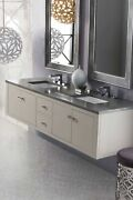James Martin 312-v72-mtm-3gex Silverlake 72 Double Vanity Mountain Mist Wit...
