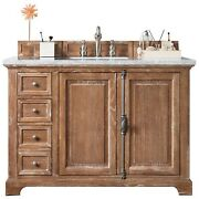 Providence 48 Single Vanity Cabinet Driftwood With 3 Cm Classic White Quar...