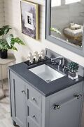 Copper Cove Encore 30 Single Vanity, Silver Gray, With 3 Cm Charcoal Soapsto...