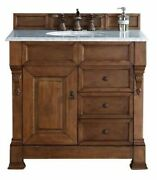 James Martin Brookfield 36 Country Oak Single Vanity W/ Drawers With 3 Cm Su...