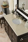 Copper Cove Encore 48 Single Vanity, Burnished Mahogany, With 3 Cm Galala Be...