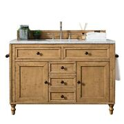 Copper Cove 48 Single Vanity Cabinet Driftwood Patina With 3 Cm Classic Wh...