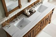 Double Vanity In Country Oak Finish