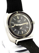 Rare Longines Ultra Chron Diver Wrist Watch Stainless Steel Case Srewed Back