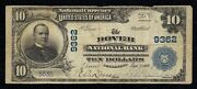 Rare Dover Pa Charter 9362 Series 1902 10.00 Plain Back 2 Notes Reported