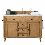 Copper Cove 48 Single Vanity Cabinet Driftwood Patina With 3 Cm Charcoal Soa...