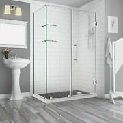 Aston Sen962ez-ss-663038-10 Bromley Gs Frameless Hinged Shower Enclosure With...