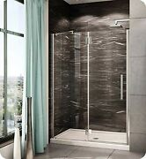 Pxlp58-25-40r-mb-79 Fleurco Platinum In Line Door And Panel With Glass To Gla...