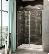 Pxlp59-25-40r-td-79 Fleurco Platinum In Line Door And Panel With Glass To Gla...