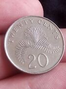 Singapore - 20 Cents Km 101 2011 Powder-puff Plant From Kayihan Coins