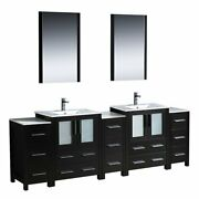 Fresca Bath Fvn62-72es-uns Torino 84 Double Sink Vanity With 3 Side Cabinets...