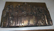 Last Supper Ceramic Cubist Wall Hanging Picture / Wall Decor Rp