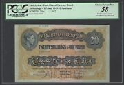 East Africa 20 Shilling- One Pound 1-1-1953 P30bs Specimen About Uncirculated