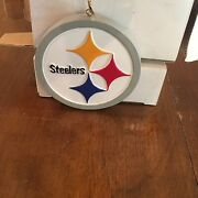 2 Pittsburgh Steelers Logo 3inch Round Ornaments Made By The Memory Co New