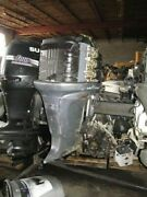 2002 F225 Yamaha Hp 4 Stroke Outboard Engine 20 Shaft For Part/ Repair Needed