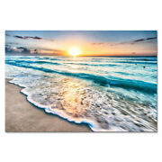 Canvas Wall Art Print Painting Picture Home Decor Sea Beach Landscape Waves