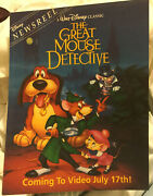 1992 The Great Mouse Detective Disney Newsreel Magazine Classic Vhs Logo
