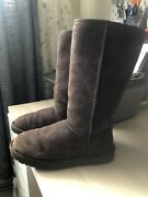 Ugg 5815 Classic Tall Sheepskin Winter Boots Womenandrsquos Size 7 Brown